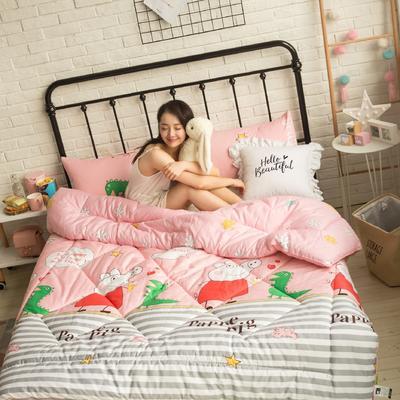 风尚全棉冬被模特图 220x240cm 小猪佩奇