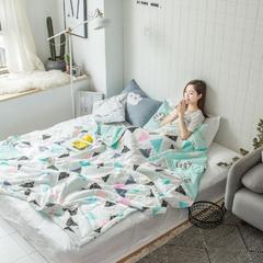 2018春夏新品-北欧小清新全棉夏被(模特图) 150x200cm 奇幻