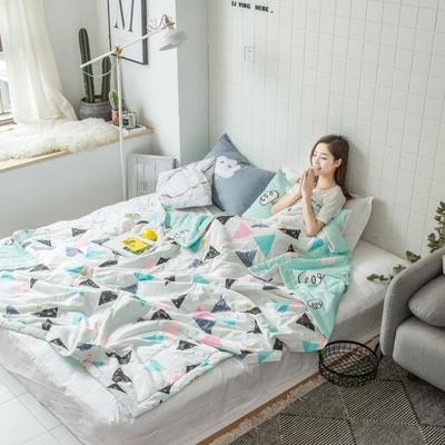 2018春夏新品-北欧小清新全棉夏被(模特图) 200X230cm 奇幻