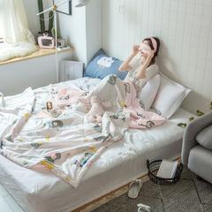2018春夏新品-北欧小清新全棉夏被(模特图) 150x200cm 小象
