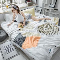 2018春夏新品-大版全棉夏被(模特图) 200X230cm 品味青春