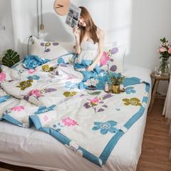 风尚全棉夏被(花卉系列模特图) 150*200cm 花婆