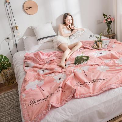 风尚全棉夏被(花卉系列模特图) 150*200cm 温婉话语