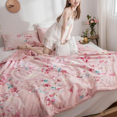 风尚全棉夏被(花卉系列模特图) 150*200cm 夏花依依