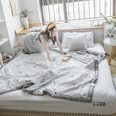 风尚全棉夏被(小清新系列模特图) 200*230cm 慢生活