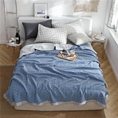 日式针织夏被毯 200cm*230cm 天空蓝