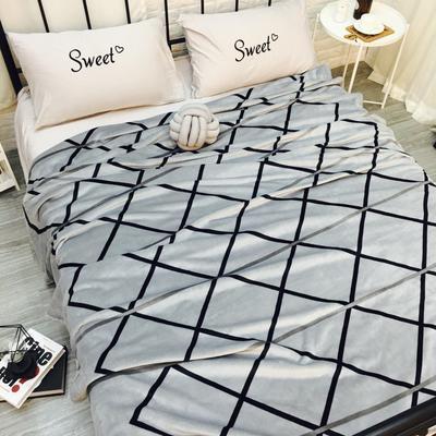 毛毯(秋冬加厚双层云貂绒毯 总) 200*230cm 灰色格调