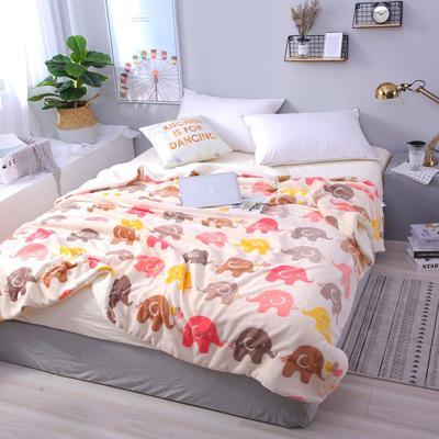 2018新款羊羔绒毛毯系列 毛毯毯子 150*200 大象 羊羔