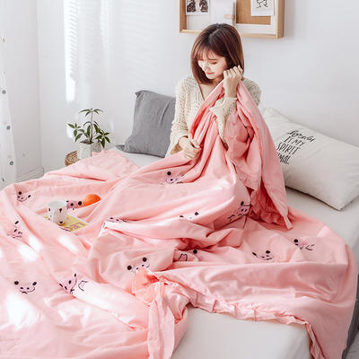 2019新款毛巾绣纯棉夏被 150x200cm 小猪