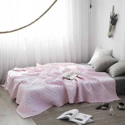 2019新款-双层纱水洗夏被 200X230cm 莹粉色