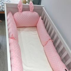 2018新款-婴儿床围系列 60*25cm 粉色星光  套餐一
