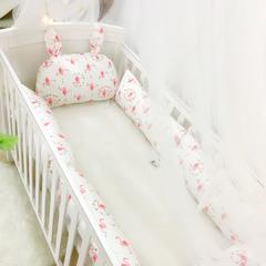2018新款-婴儿床围系列 60*25cm 火烈鸟 套餐一