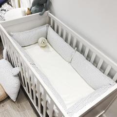 2018新款-婴儿床围系列 60*25cm 小波点 套餐一