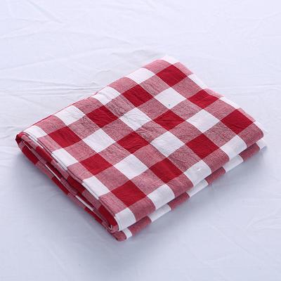 全棉水洗棉四件套单品枕套 普通款 74*48/只 大红三分格