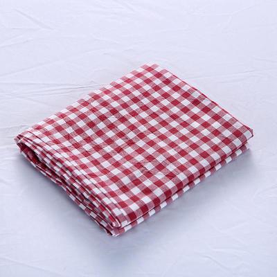 全棉水洗棉四件套单品枕套 普通款 74*48/只 大红小格