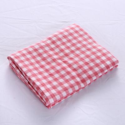 全棉水洗棉四件套单品枕套 普通款 74*48/只 粉红小格