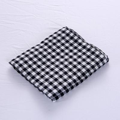 全棉水洗棉四件套单品枕套 普通款 74*48/只 黑白小格