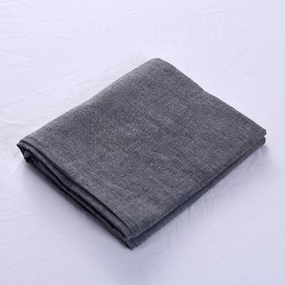 全棉水洗棉四件套单品枕套 普通款 74*48/只 冷灰色