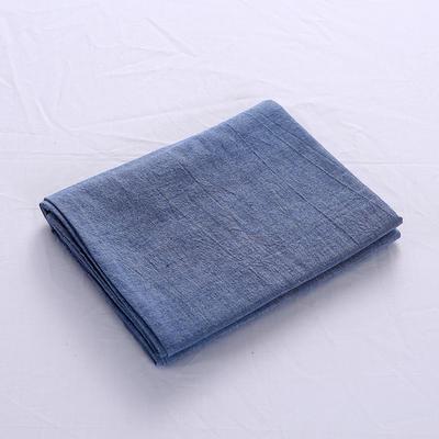 全棉水洗棉四件套单品枕套 普通款 74*48/只 牛仔蓝