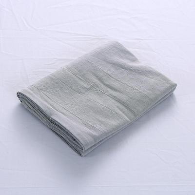 全棉水洗棉四件套单品枕套 普通款 74*48/只 浅灰色