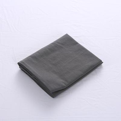 全棉水洗棉四件套单品枕套 普通款 74*48/只 深灰色