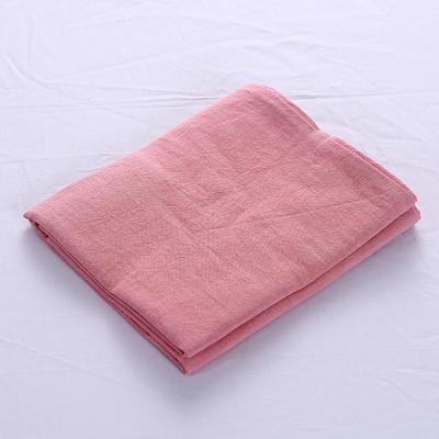 全棉水洗棉四件套单品枕套 普通款 74*48/只 橡皮粉