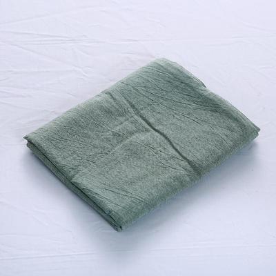 全棉水洗棉四件套单品枕套 普通款 74*48/只 一抹绿