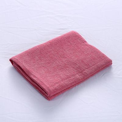 全棉水洗棉四件套单品枕套 普通款 74*48/只 一片红
