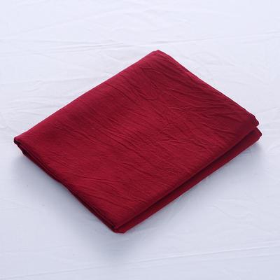 全棉水洗棉四件套单品枕套 普通款 74*48/只 中国红