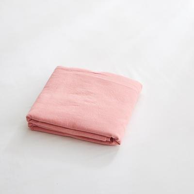 2018新款 全棉色织水洗棉单品被套 150*200 橡皮粉