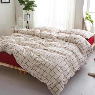 2018新款 全棉色织水洗棉单品床单 160*240 初春格