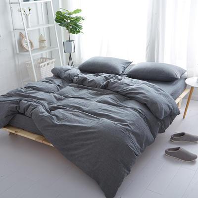 2018新款 全棉色织水洗棉单品床单 160*240 冷灰色