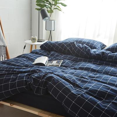 2018新款 全棉色织水洗棉单品床单 160*240 暖冬格