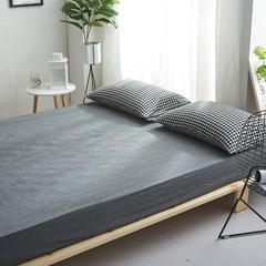 2018新款 全棉色织水洗棉单品床笠 150*200+25 黑白小格