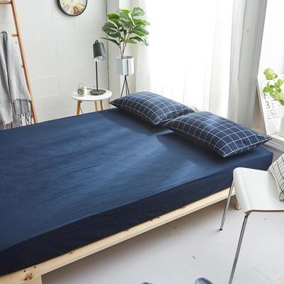 2018新款 全棉色织水洗棉单品床笠 120*200+25 暖冬格
