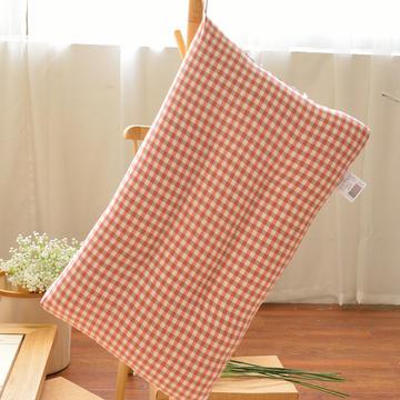 全棉色织水洗棉枕头枕芯-小格系列( 48*74cm ) 红玉
