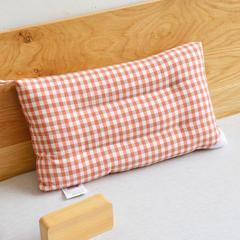 全棉色织水洗棉枕头枕芯-儿童小格系列(30*50cm  ) 30*50cm 粉玉