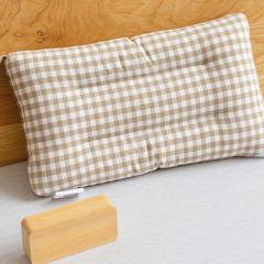 全棉色织水洗棉枕头枕芯-儿童小格系列(30*50cm  ) 30*50cm 浅咖