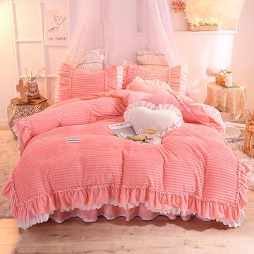 2019新款兔兔绒水晶绒四件套床单款法莱绒魔法绒牛奶绒-黛茜