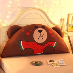 卡通公主抱枕床头大靠背靠枕儿童靠垫1.2m1.5m皇冠带芯软靠垫 0.9米床 高约50 西瓜布朗熊