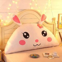 卡通公主抱枕床头大靠背靠枕儿童靠垫1.2m1.5m皇冠带芯软靠垫 0.9米床 高约50 萌兔