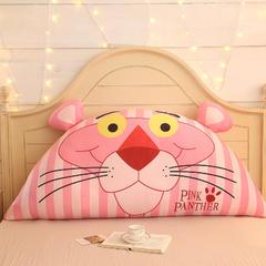卡通公主抱枕床头大靠背靠枕儿童靠垫1.2m1.5m皇冠带芯软靠垫 0.9米床 高约50 粉红顽皮豹