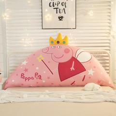 卡通公主抱枕床头大靠背靠枕儿童靠垫1.2m1.5m皇冠带芯软靠垫 0.9米床 高约50 仙女猪