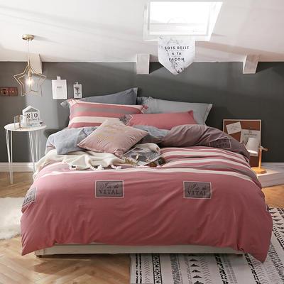 2018新款单面绒四件套 1.8m(6英尺)床 裸眠时代  红