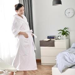 家居用品-白色浴袍 衣长120袖长60胸围135 白色