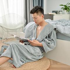 家居用品-灰色浴袍 衣长120袖长60胸围135 灰色浴袍