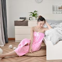 家居用品-玫红浴裙 140*90cm 玫红