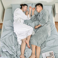 家居用品-男女模合拍 衣长120袖长60胸围135 灰色