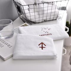 家居用品清仓处理纯棉毛巾-方巾面巾十二星座 方巾35*35+面巾35*75套装