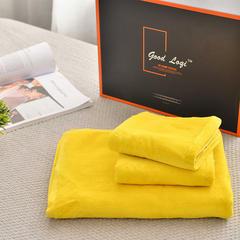 家居用品纯棉毛巾-面巾浴巾(鹅黄色) 浴巾80*140